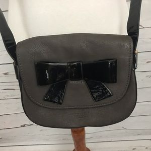 Melli Bianco Crossbody Bow Bag Brown/Black